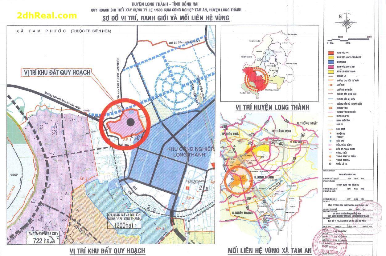 Tìm nguồn đầu tư tài chính dài hạn dự án Cụm Công Nghiệp Tam An quy mô 50,9ha, huyện Long Thành, tỉnh Đồng Nai