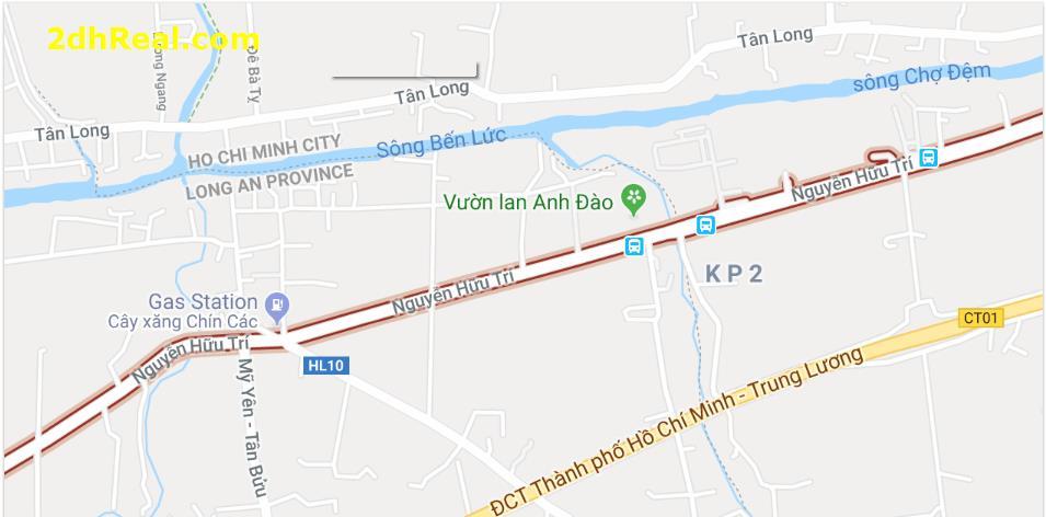 Chuyển nhượng dự án  MT Đường Nguyễn Hữu Trí, Q. Bình Chánh, Qui mô: 23,26 ha