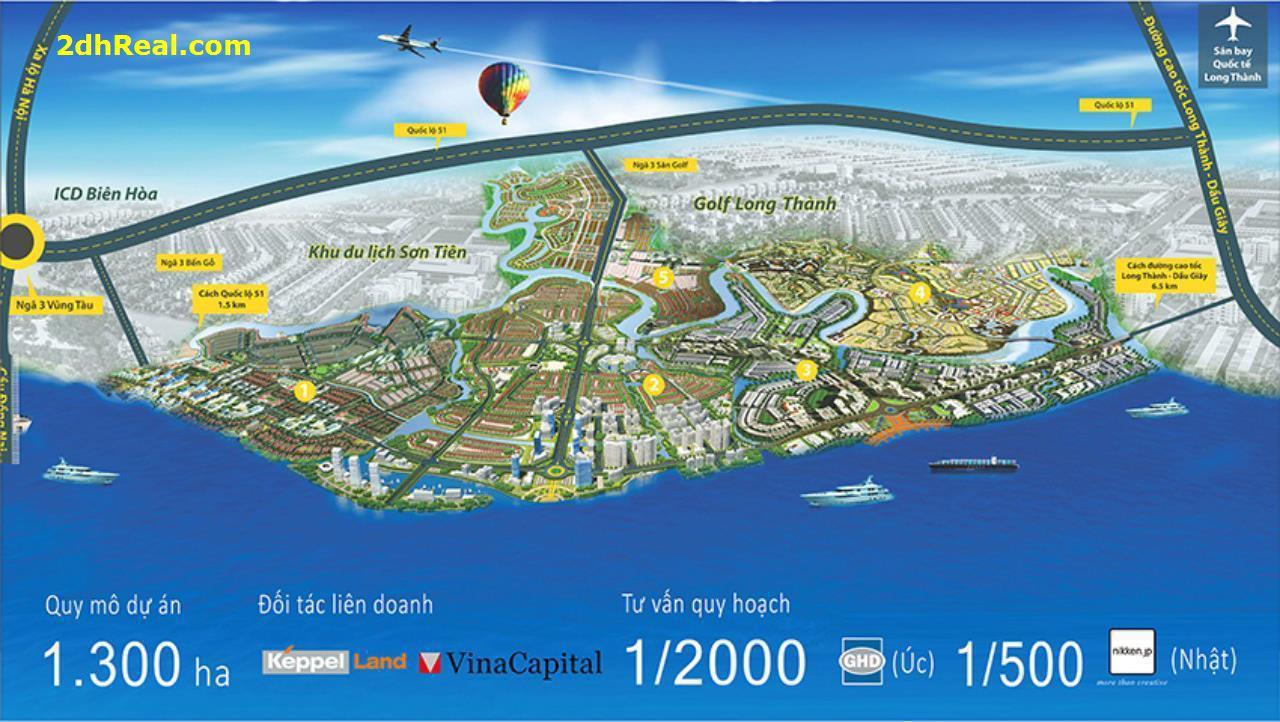 Bán dự án Khu Đô thị  Phoenix Island 286ha tại Cù lao Phước Hưng xã Tam Phước, Tp Biên Hoà Đồng Nai